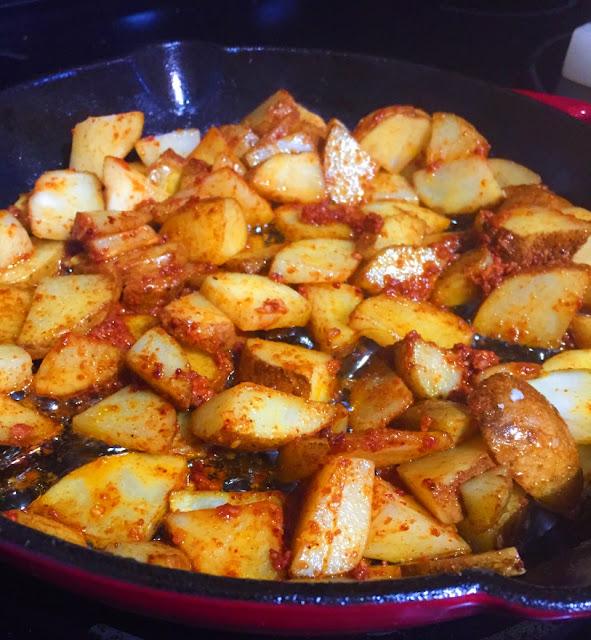 Potatoes and Chorizo