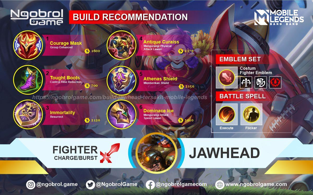 Build Jawhead Top Global Tersakit Mobile Legends