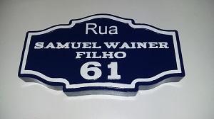 placa número de casa