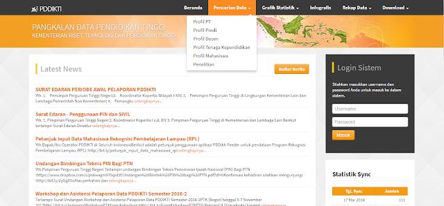 Cara mengetahui NIM melalui situs forlap.ristekdikti.go.id/mahasiswa