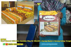Sprei Internal Little Miss Sunshine King B2 180×200 2 Sarung Bantal 2 Sarung Guling Orange Jingga Kartun Anak Remaja Dewasa Katun CVC