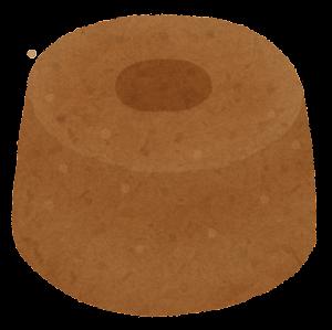 シフォンケーキのイラスト(ホール・チョコ)