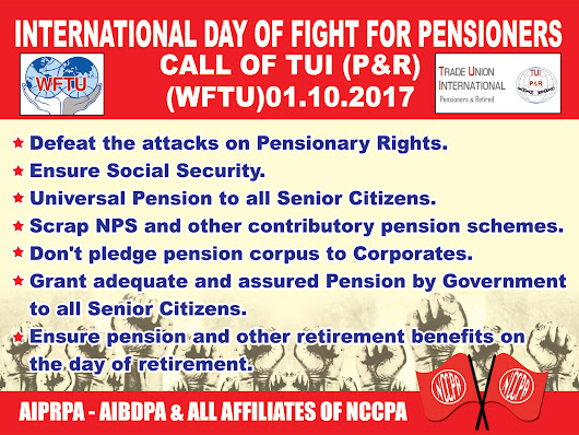 International Day of Fight for Pensioners - TUI Call!