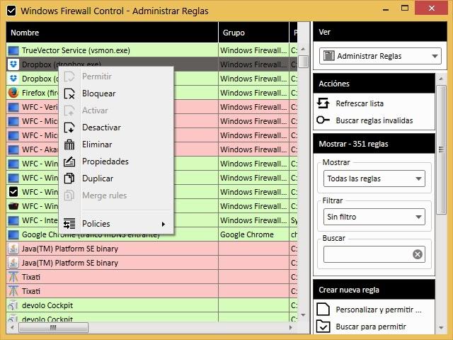 Máximo control sobre conexiones entrantes y salientes de tu PC