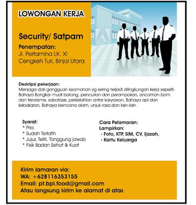 Lowongan Kerja Satpam/Security Oktober 2019