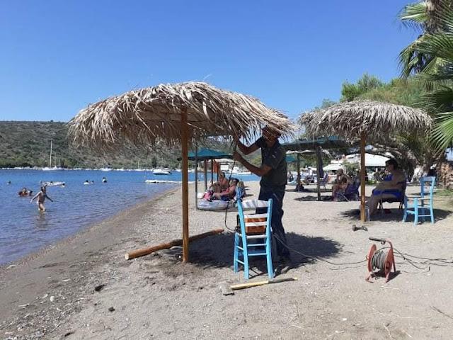Εργασίες από συνεργεία του Δήμου Ναυπλιέων στην παραλία Βιβαρίου