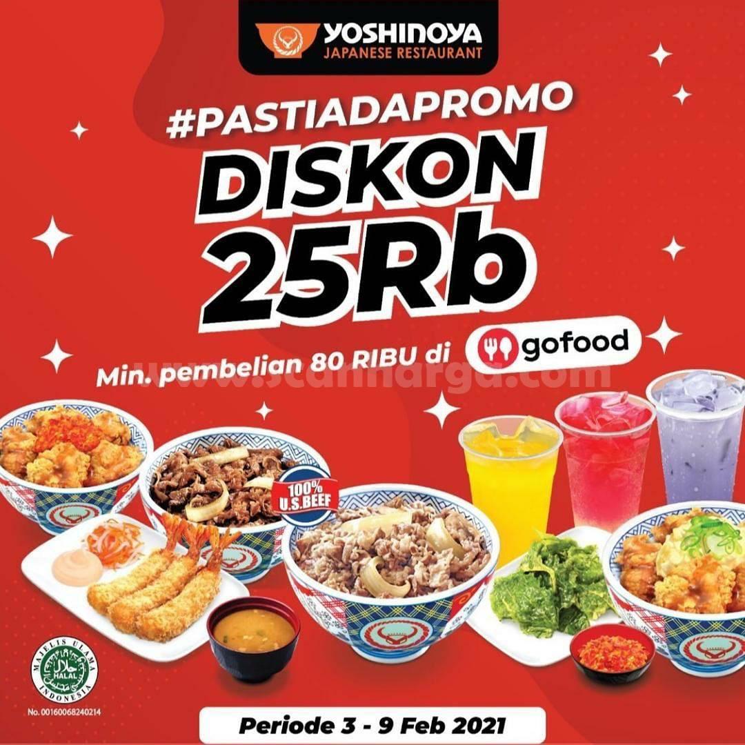 YOSHINOYA Promo DISKON 25Rb khusus pemesanan via GOFOOD