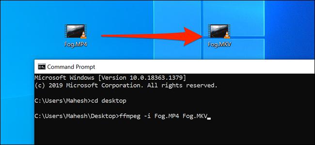 قم بتحويل ملفات الوسائط باستخدام موجه الأوامر في نظام التشغيل Windows 10