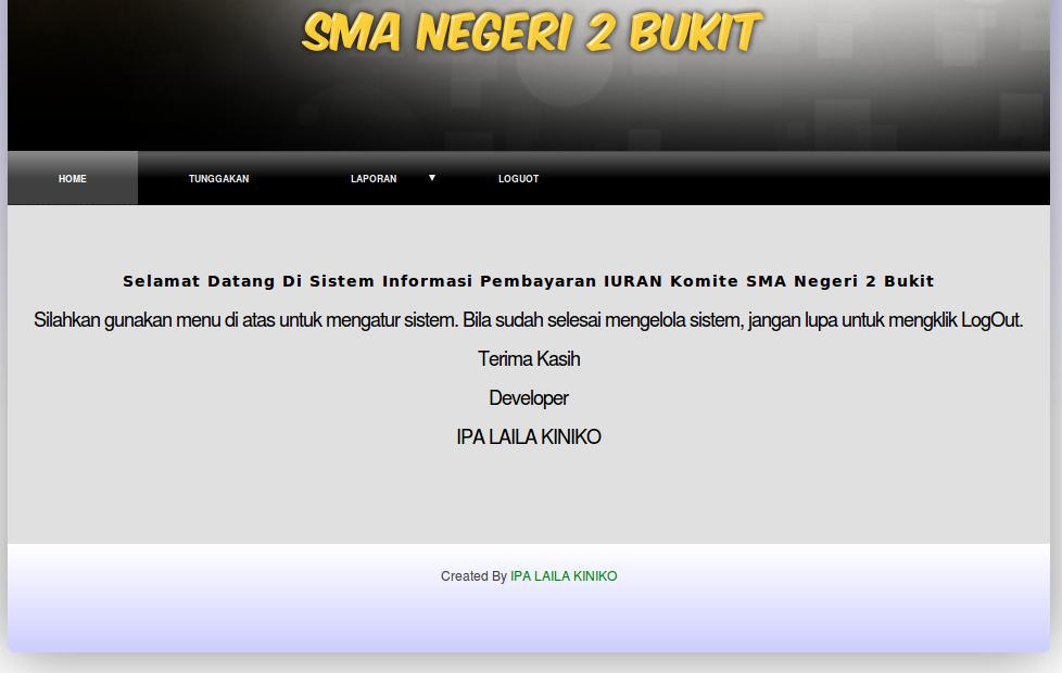 Sistem Informasi Pembayaran SPP Berbasis SMS Gateway