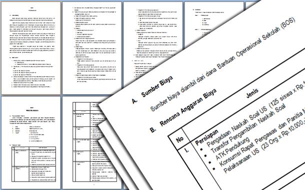 Contoh Program Kerja Ujian Sekolah (US) SMP-MTs Berstandar Nasional