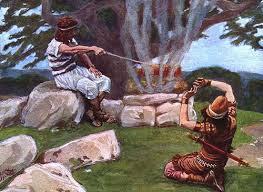 A Opressão Midianita Interrompida por Gideão, Bíblia Sagrada capitulo 6: 1 - 8:35 do livro de  Juízes .( O Senhor os entregou nas mãos dos midianitas).  O ciclo do pecado, castigo e livramento repetiu-se outra vez em Israel.   Os midianitas eram nômades que habitavam na região leste e sudeste do Mar Morto. Sua genealogia vai até Abraão, através de sua concubina Quetura  vejam (Gn. 25:1, 2). Prevalecendo o domínio dos midianitas sobre Israel, na região, tiveram de fazer  para si, por causa dos midianitas, as covas que estão nos montes, e cavemos e fortificações. Era uma infraestrutura para conseguir produzir seus alimentos.
