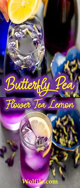 Butterfly Pea Flower Tea Lemon Recipe #Summer