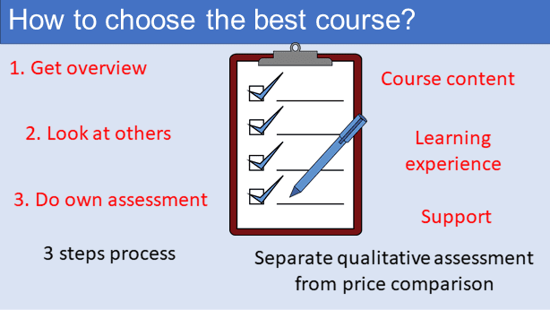 How to choose the best course