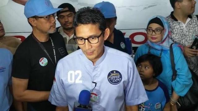 Tsunami Anyer, Sandiaga: Tobat Nasional, Kesampingkan Politik Pilpres