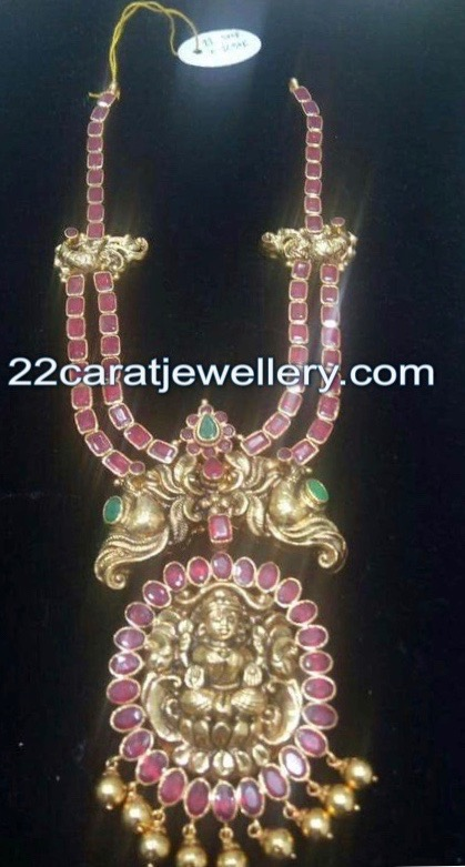 Two Layer Ruby Set with Lakshmi