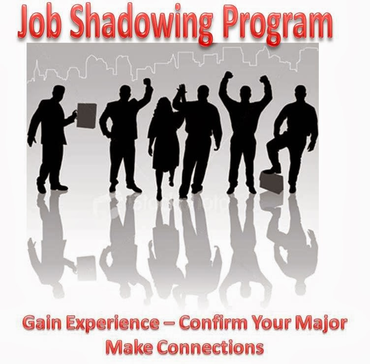 job shadow In job shadowing, a business typically partners with an educational establishment to provide an experience for a student of what it is like to perform a certain type of work by having them accompany an experienced worker as they perform the targeted job.