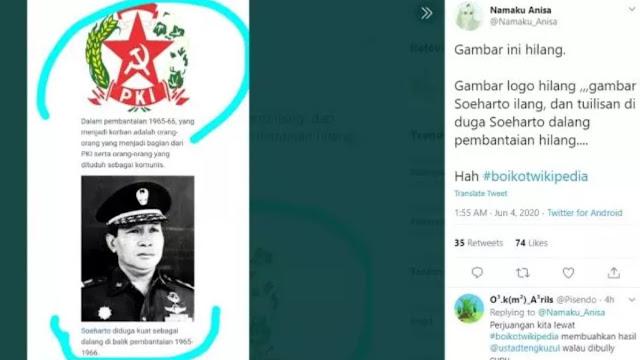 Buramkan Sejarah soal PKI, #BoikotWikipedia Menggema