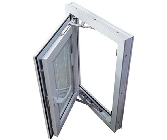 Potongan penampakan kusen upvc jendela casement