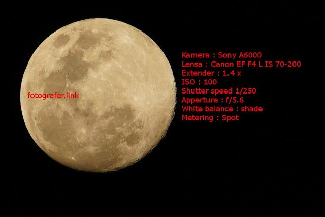 Cara memotret bulan purnama dengan jelas