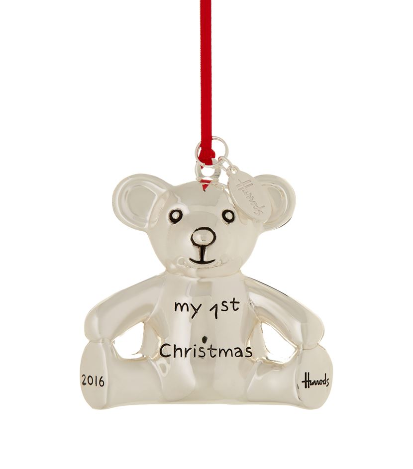 harrods my first christmas 2016 bear christmas tree decoration