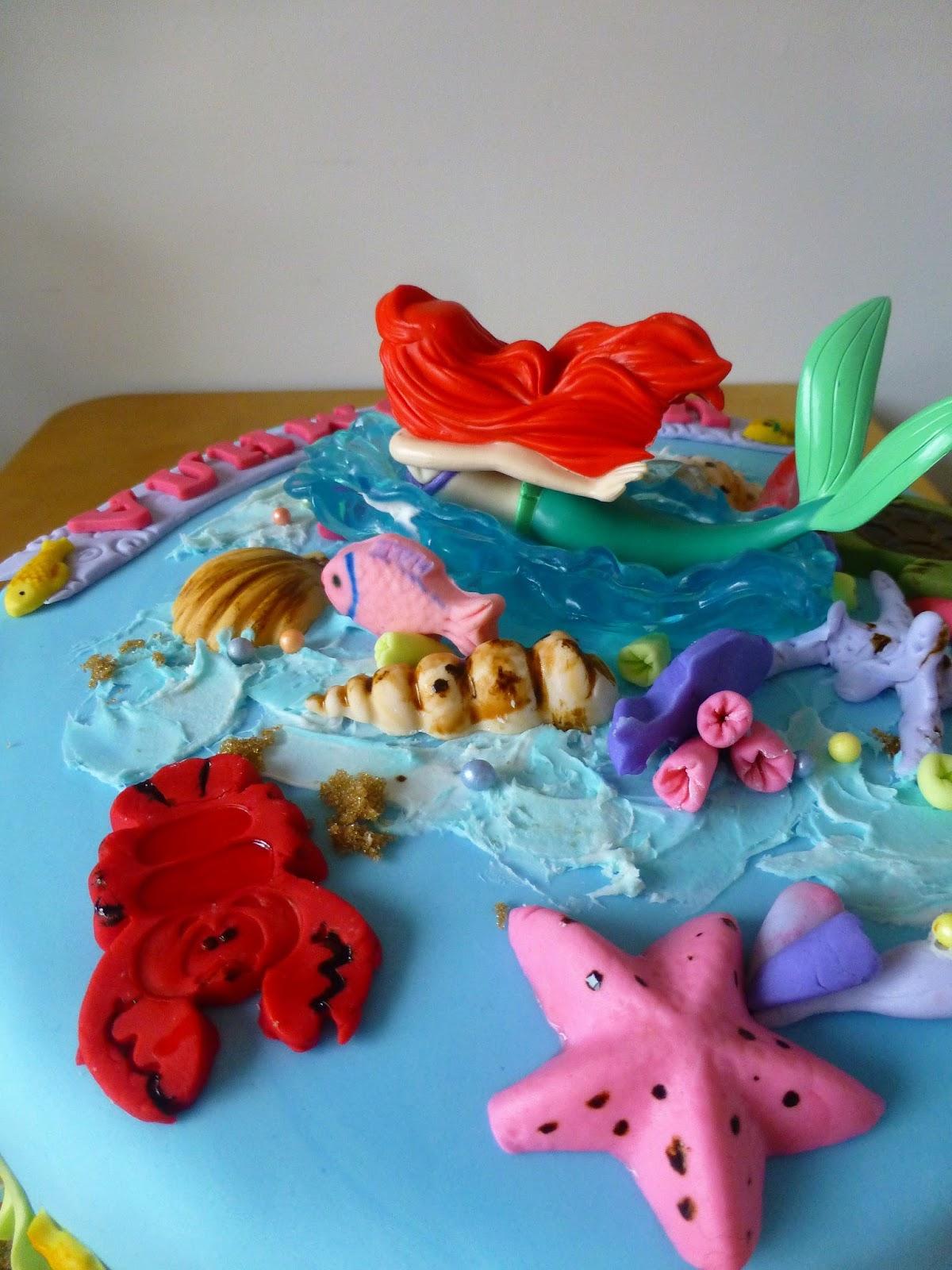 Cakesophia ariel cake for Ariel decoration