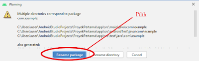 mengganti nama package di android studio