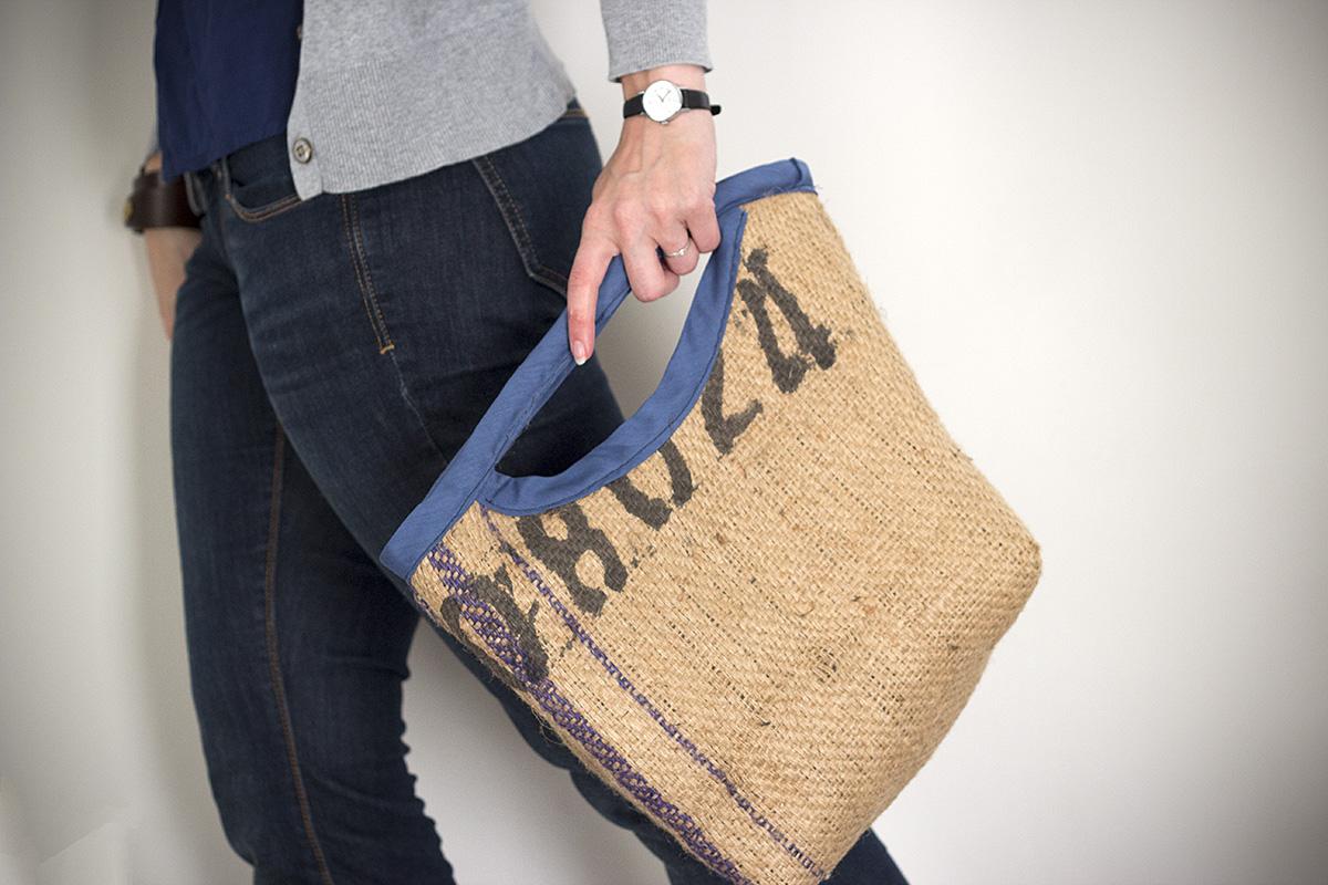 Steph Chows Burlap Bag