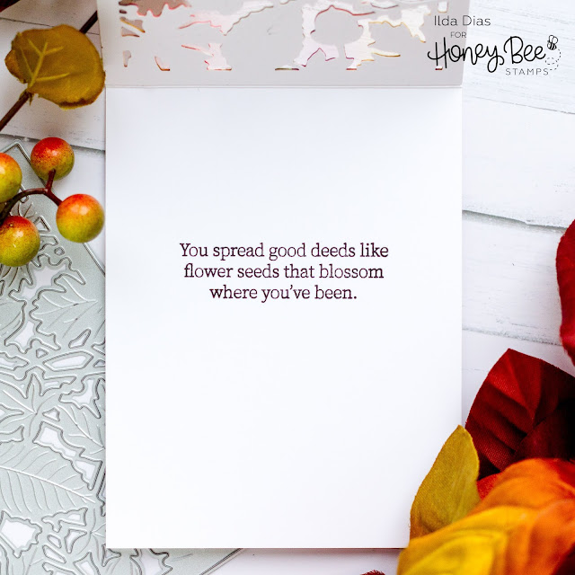 Thanks,Honey Bee Stamps,Fall,Autumn Splendor cover plate,Karin Brush Marker Pro,Sneak Peek,See Through Window panel,Card,Card Making, Stamping, Die Cutting, handmade card, ilovedoingallthingscrafty, Stamps, how to,