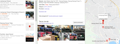 Toko Diesel di Bandar Lampung