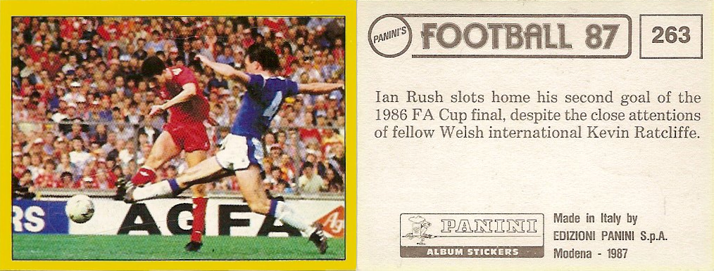 PANINI FOOTBALL 87 STICKER N ° 62 GORDON DURIE Chelsea