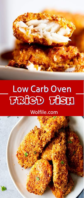 Low Carb Oven Fried Fish Recipe #Fish #LowCarb