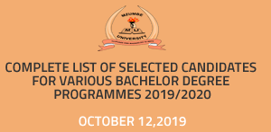 Complete List Of Students Selected Mzumbe University (MU) 2019/20