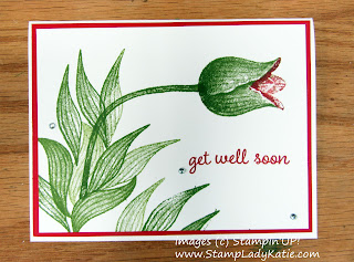 "Card using Stampin'UP!'s Timeless Tulips Bundle to create the man-eating plant from ""Little Shop of Horrors"""