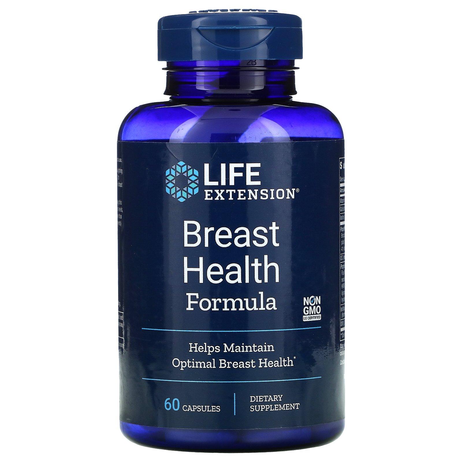 Life Extension, состав для здоровья молочных желез, 60 капсул