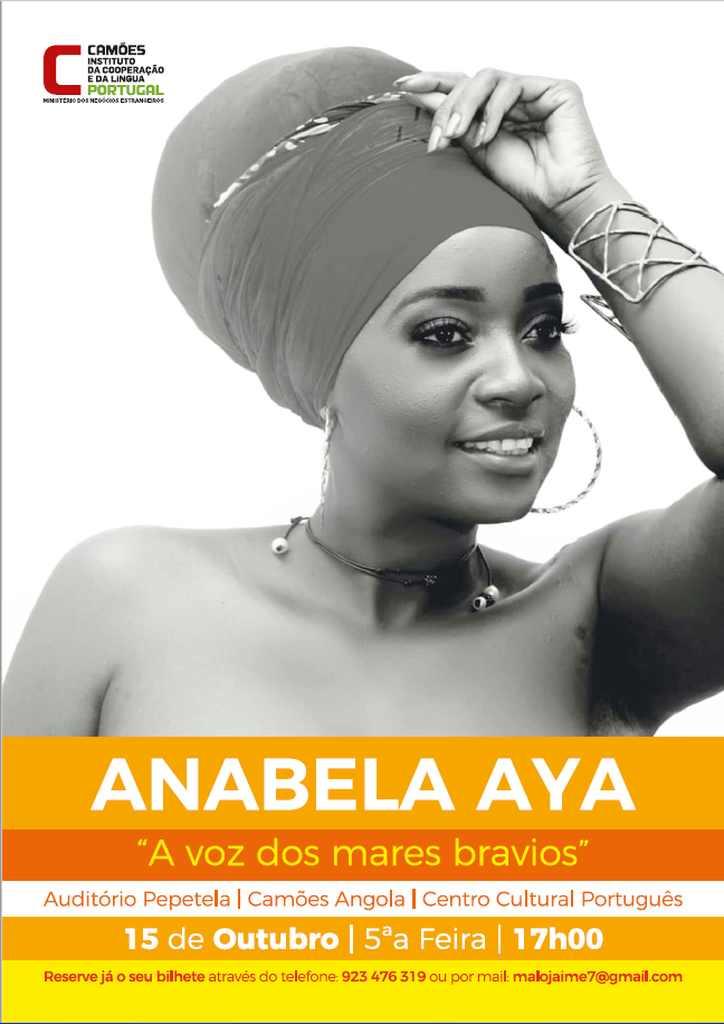 """CCP Luanda - """"A Voz dos Mares Bravios"""", com Anabela Aya."""