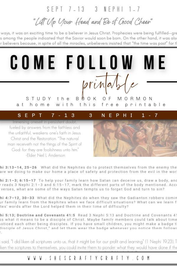 Come Follow Me Free Printable
