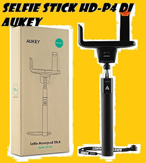 Selfie stick Bluetooth HD-P4 by AUKEY: RECENSIONE