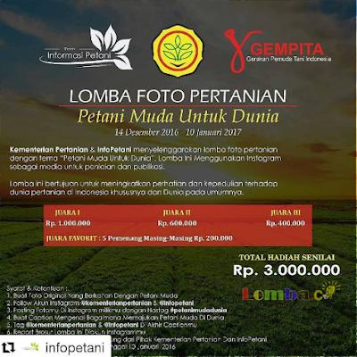 Lomba Foto Pertanian by Kementerian Pertanian Total Hadiah 3 Juta