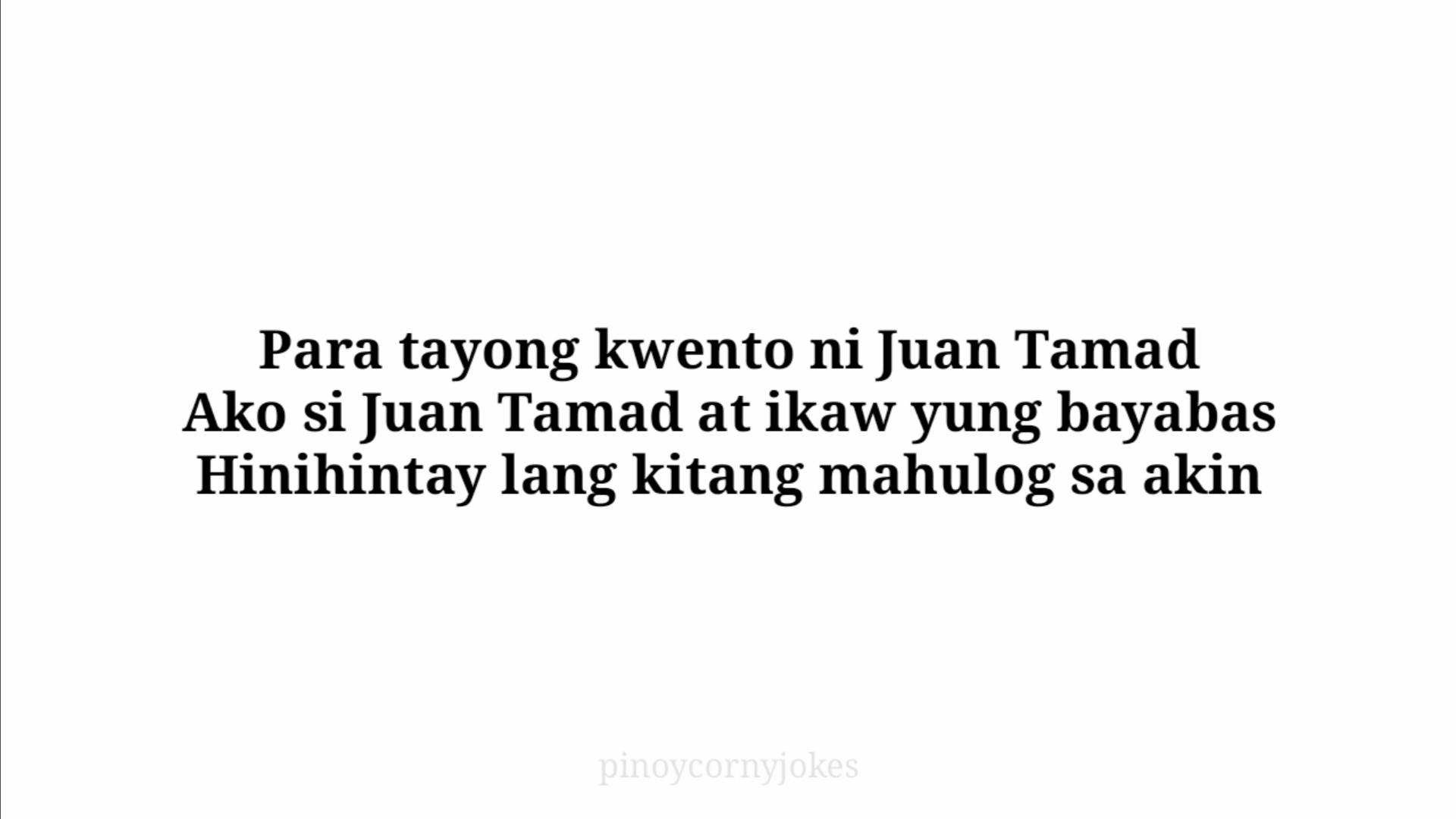 jokes banat tagalog juan tamad