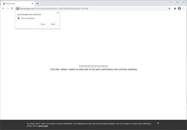 Stoomoogn.com pop-ups