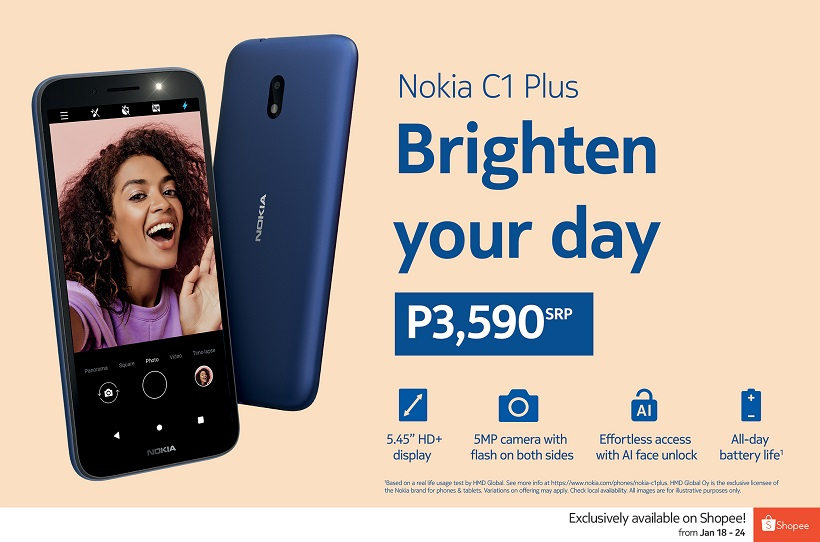 Affordable 4G Nokia C1 Plus smartphone to be released exclusively on Shopee