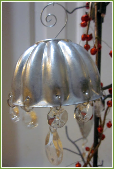 Vintage jello molds with chandelier bling