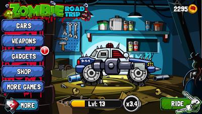 لعبة Zombie Road Trip مكركة، لعبة Zombie Road Trip مود فري شوبينغ