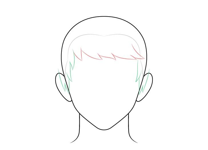 Anime menyisir gambar sisi rambut pria