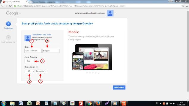 Buat Profil Publik Anda untuk bergabung di google+