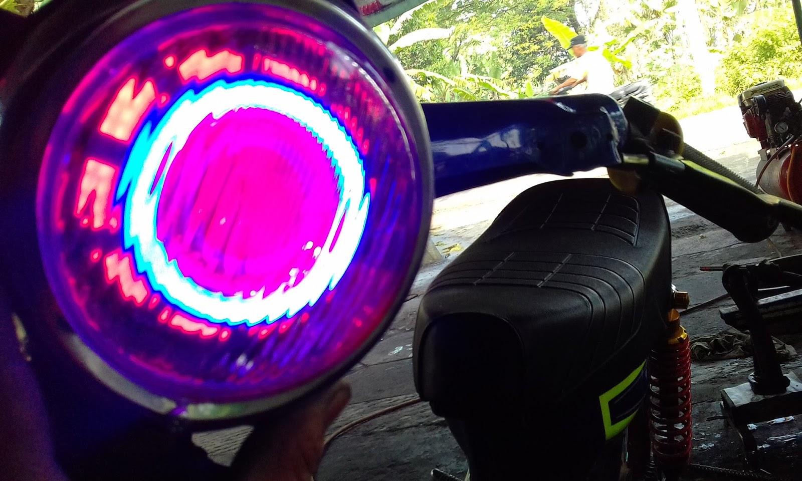 Cara Mudah Pasang Lampu Projie Led Pada Motor Dan Manfaat Nya
