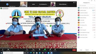 Sosialisasi Daring SMK TI Bali Global Badung Bersama Siswa-siswi Kelas IX SMP Darmasastra
