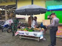 Polsek Perbaungan Gempur Covid-19 di Pasar Tradisional