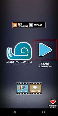 Kemudian Sobat klik logo Play dengan tulisan Start Slow Motion.