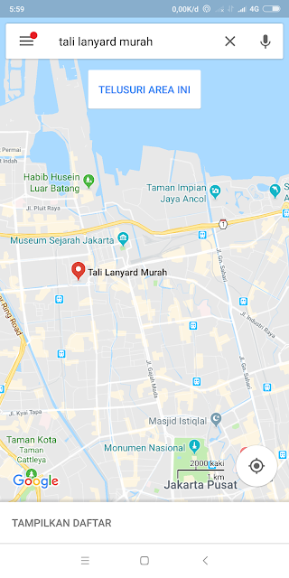 Pusat penjualan tali id card termurah di Jakarta